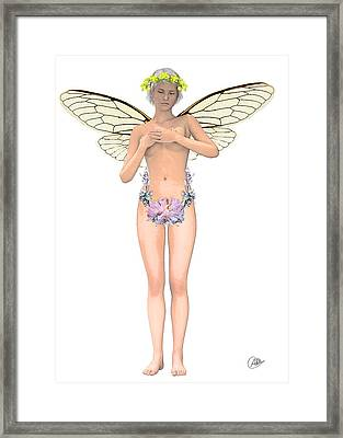 Tinker Bell Modernist Framed Print by Quim Abella