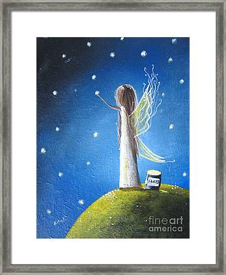 Fairy Maker By Shawna Erback Framed Print by Shawna Erback