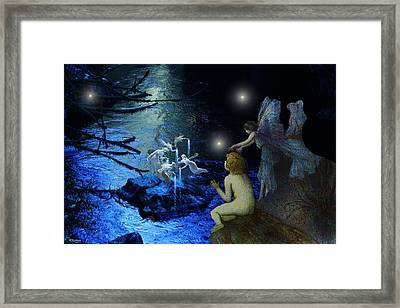 Fairy Nights And Fairy Lights Framed Print by Bill Oliver