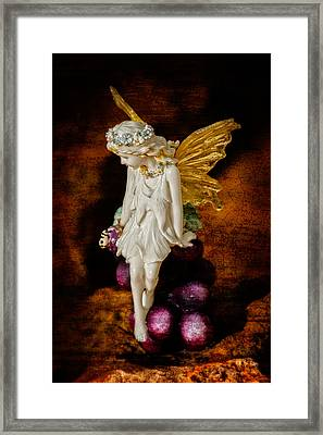 Fairy Of The Harvest Moon Framed Print