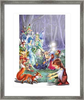 Fairy Princess Gathering Framed Print by Zorina Baldescu