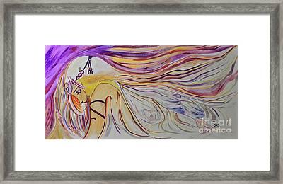 Fairy Princess Mixed Media Framed Print by Janice Rae Pariza