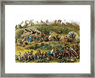 Fairy Procession Framed Print by Photo Researchers