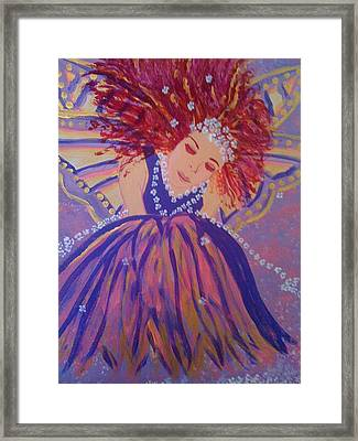 Framed Print featuring the painting Fairy Remi by Judi Goodwin
