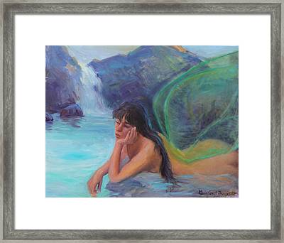 Fairy Reverie Framed Print by Gwen Carroll