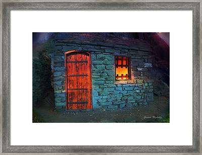 Framed Print featuring the photograph Fairy Tale Cabin by Gunter Nezhoda