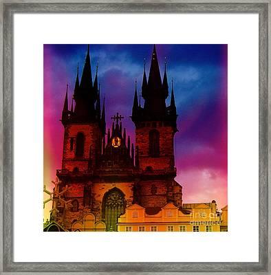 Fairy Tale Castle Prague Framed Print