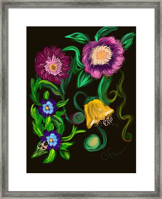 Fairy Tale Flowers Framed Print