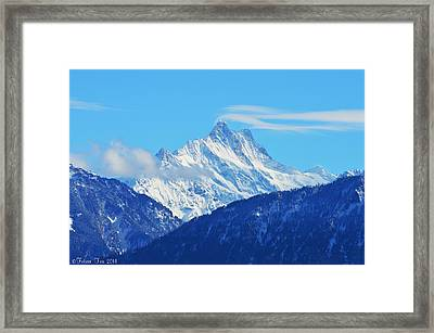 Fairy Tale In Alps Framed Print