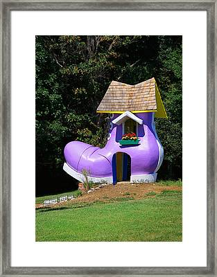 Fairy Tale Shoe House Framed Print by John Cardamone