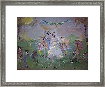 Framed Print featuring the painting Fairy Wedding by Judith Desrosiers