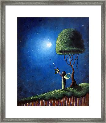 Fairy Wishes Original Art Painting Framed Print by Shawna Erback