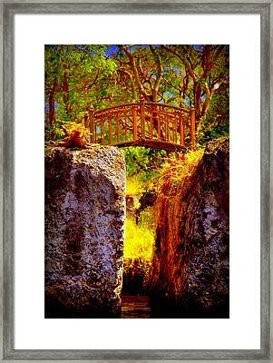 Fairytale Bridge Framed Print by Karen Wiles