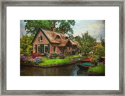 Fairytale House. Giethoorn. Venice Of The North Framed Print by Jenny Rainbow
