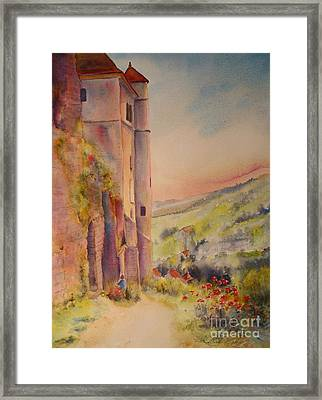 Framed Print featuring the painting Fairytale In Perigord France by Beatrice Cloake