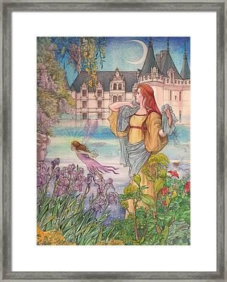Fairytale Nocturne Castle Framed Print