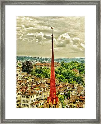 Fairytale Spire Framed Print by Connie Handscomb