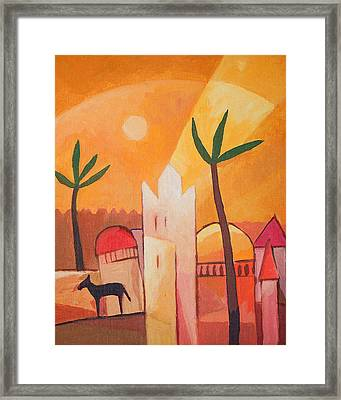 Fairytale Village Framed Print