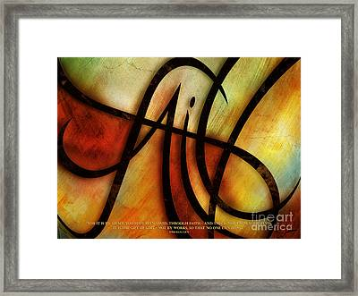 Faith Abstract - Verse Framed Print by Shevon Johnson