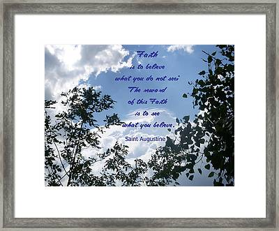 Framed Print featuring the photograph Faith by Aimee L Maher Photography and Art Visit ALMGallerydotcom
