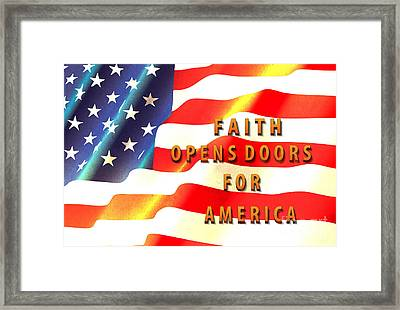 Faith And America Framed Print by Beverly Guilliams