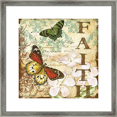 Faith And Butterflies Framed Print by Jean Plout