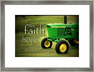 Faith And Hope Framed Print by Linda Fowler
