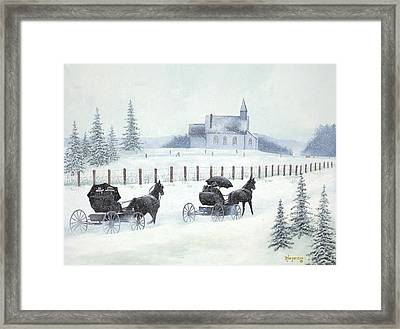 Faith And Winter Framed Print by Barbara Jorgensen