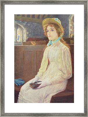 Faith Framed Print by Arthur Hughes