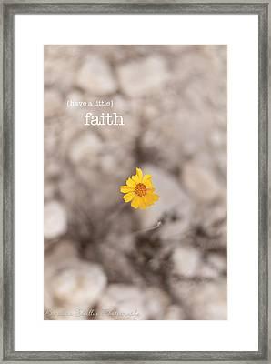Faith Framed Print by Barbara Shallue
