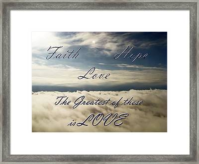 Faith Hope Love Framed Print by Aimee L Maher Photography and Art Visit ALMGallerydotcom
