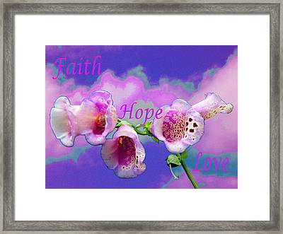 Faith-hope-love Framed Print