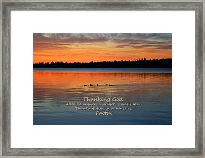 Faith In God Framed Print