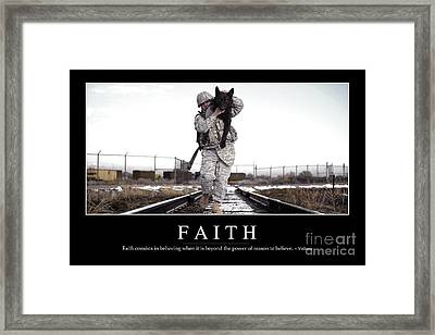 Faith Inspirational Quote Framed Print