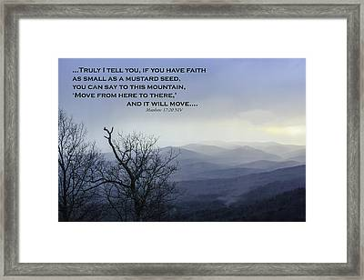 Faith Framed Print by Robert Hebert