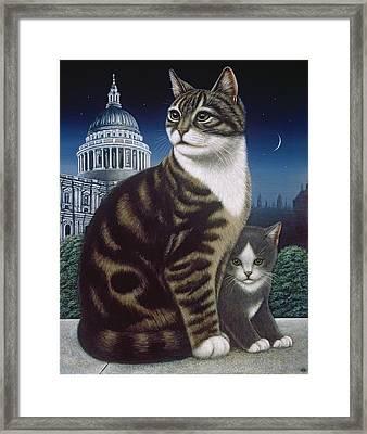 Faith, The St. Paul's Cat Framed Print by Frances Broomfield