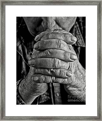 Faithful Hands Framed Print