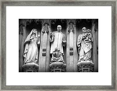 Faithful Witnesses -- Martin Luther King Jr Remembered With Bishop Romero And Duchess Elizabeth Framed Print by Stephen Stookey