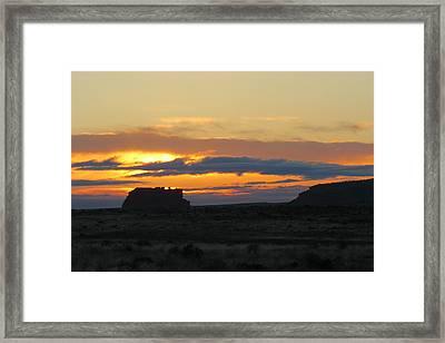 Fajada Butte At Sunrise Framed Print