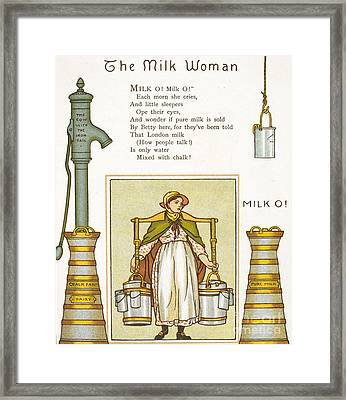 Fake Milk, 1880s Poem Framed Print