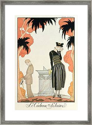 Falbalas Et Fanfreluches Almanach Des Modes Framed Print