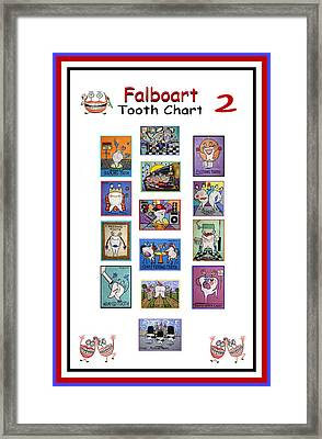 Falboart Tooth Chart Number 2 Framed Print by Anthony Falbo