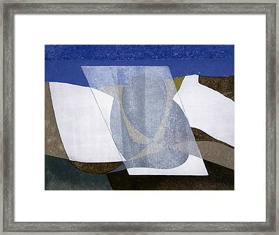 Falcon Cliff, 2001 Oil On Board Framed Print