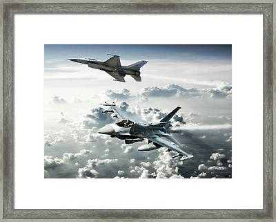 Falcon Element Framed Print