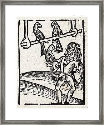 Falconer Framed Print by Paul D Stewart
