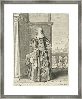 Falconer Star, Theodor Matham, Le Blond, Lodewijk Xiii King Framed Print by Theodor Matham And Le Blond