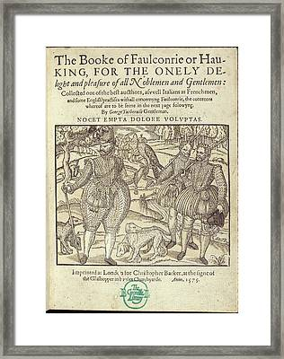 Falconry Framed Print by British Library