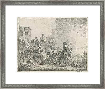 Falconry, Hendrik Frans Van Lint Framed Print