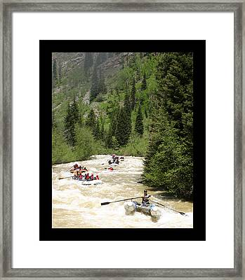 White Water Rafting On The Animas Framed Print by Jack Pumphrey