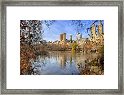 Fall Afternoon At Central Park Framed Print